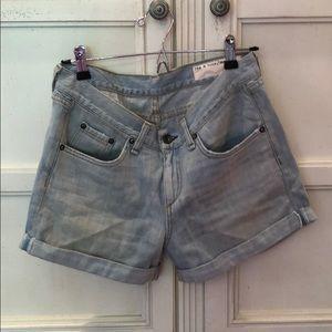 Rag and Bone light wash jean shorts
